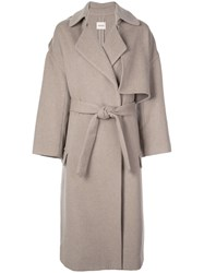 Khaite Oversized Trench Coat Grey