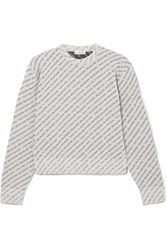 Balenciaga Glittered Lurex Sweater Silver Gbp