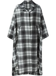 Isa Arfen Checked Parachute Coat Black