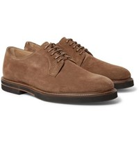 Tod's Suede Derby Shoes Light Brown