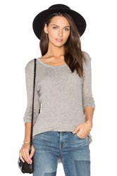 James Perse Cashmere Rib Tee Gray