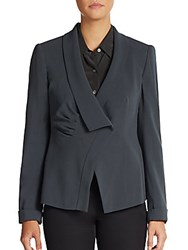 Armani Collezioni Asymmetrical Stretch Wool Jacket Tumbleweed