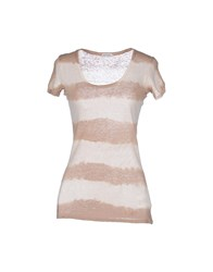 Henry Cotton's Topwear T Shirts Women Beige