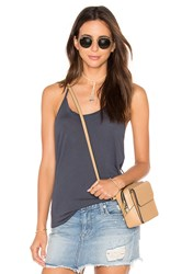 David Lerner Hi Low Drapey Tank Grey
