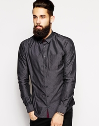 Vito Shirt With Mini Club Print And Covered Buttons In Slim Fit Darkrockburg