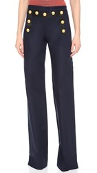 Veronica Beard Tide Line Wide Leg Sailor Pants Navy