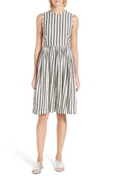 The Great Women's Great. Prairie Stripe Dress Black And White Stripe
