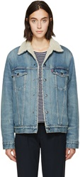 Levi's Blue Denim 1967 Sherpa Jacket