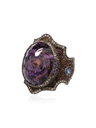 Sevan Bicakci Amethyst And Diamond Ring Multicoloured