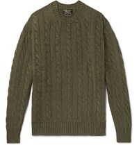 Emma Willis Cable Knit Cashmere Sweater Green
