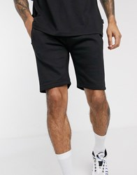 Soul Star Jersey Shorts Co Ord In Black