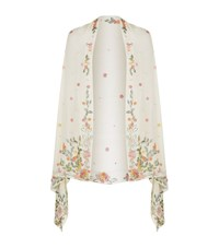 Jenny Packham Floral Embroidered Shawl Female Neutral