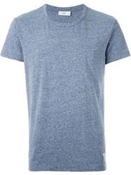 Closed Round Neck Marled T Shirt Blue
