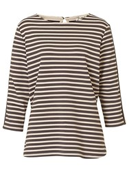 Betty Barclay Striped Top Grey Beige
