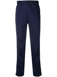 Hydrogen Star And Skull Detail Track Trousers Blue