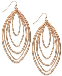 Thalia Sodi Rose Gold Tone Multi Layer Marquise Drop Earrings Only At Macy's