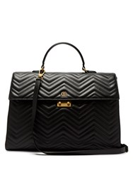 Gucci Gg Marmont Leather Briefcase Black