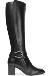 Gucci Dionysus Leather Knee Boots Black