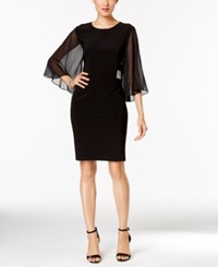 Msk Illusion Angel Sleeve Embellished Dress Black
