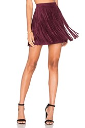 Bb Dakota Barton Skirt Wine
