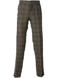 Stella Jean Checked Trousers Brown