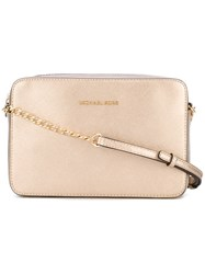 Michael Kors Jet Set Crossbody Bag Women Leather One Size Metallic