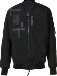 11 By Boris Bidjan Saberi Patchwork Bomber Jacket Black