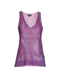 Dirk Bikkembergs Sweaters Purple