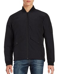 Hawke And Co Work Down Bomber Jacket Black