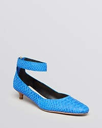 10 Crosby Derek Lam Pointed Toe Pumps Otis Kitten Heel Royal Blue