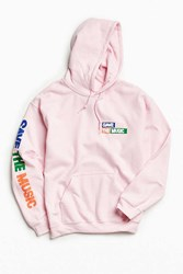 Urban Outfitters Uo Vh1 Save The Music Foundation Hoodie Sweatshirt Pink