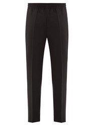 Givenchy Logo Patch Wool Trousers Black