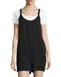 Bishop Young Gracie Woven Romper Black