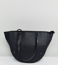 Accessorize Structured Winged Tote Bag In Black