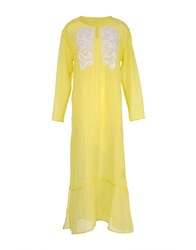 120 Lino 120 Lino Long Dresses Yellow