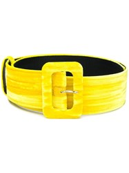 Attico Classic Buckled Belt Yellow And Orange