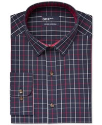 Bar Iii Carnaby Collection Slim Fit Navy Framed Check Dress Shirt Only At Macy's