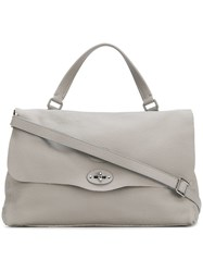 Zanellato Top Handle Shoulder Bag Grey