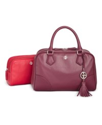 Giani Bernini 2 In 1 Pebble Leather Satchel Only At Macy's Wine