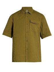 Oamc Pacific Short Sleeved Cotton Shirt Khaki