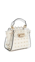 Zac Posen Eartha Quilted Pearl Lady Mini Top Handle Bag Clear