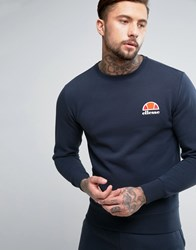 Ellesse Sweatshirt With Small Logo Navy