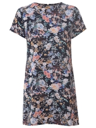 True Decadence Tunic T Shirt Dress Black Floral