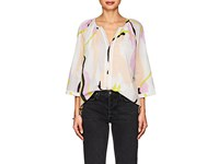 Lilla P Embroidered Cotton Voile Blouse Multi
