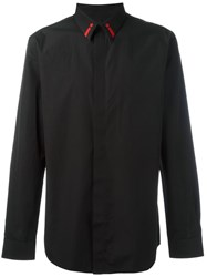 Givenchy Star And Stripe Embroidered Shirt Black