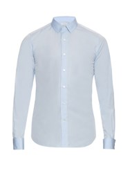 Valentino Double Cuff Cotton Poplin Shirt Light Blue