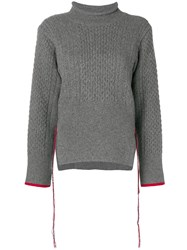 Eudon Choi Knitted Sweater Grey