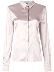 Tom Ford Long Sleeve Shirt Pink And Purple