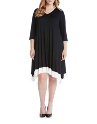 Karen Kane Plus Plus Layered Jersey Knit Dress Black