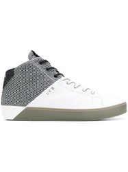 Leather Crown Color Block Sneakers White